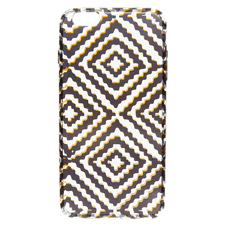Black & Gold Diamond Design Phone Case,