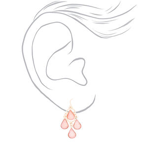 Rose Gold Delicate Drop Earrings - 3 Pack,