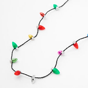 Light Up Bulb Holiday Necklace,