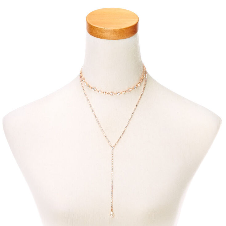 Embellished Gold-Tone Layered Necklace,