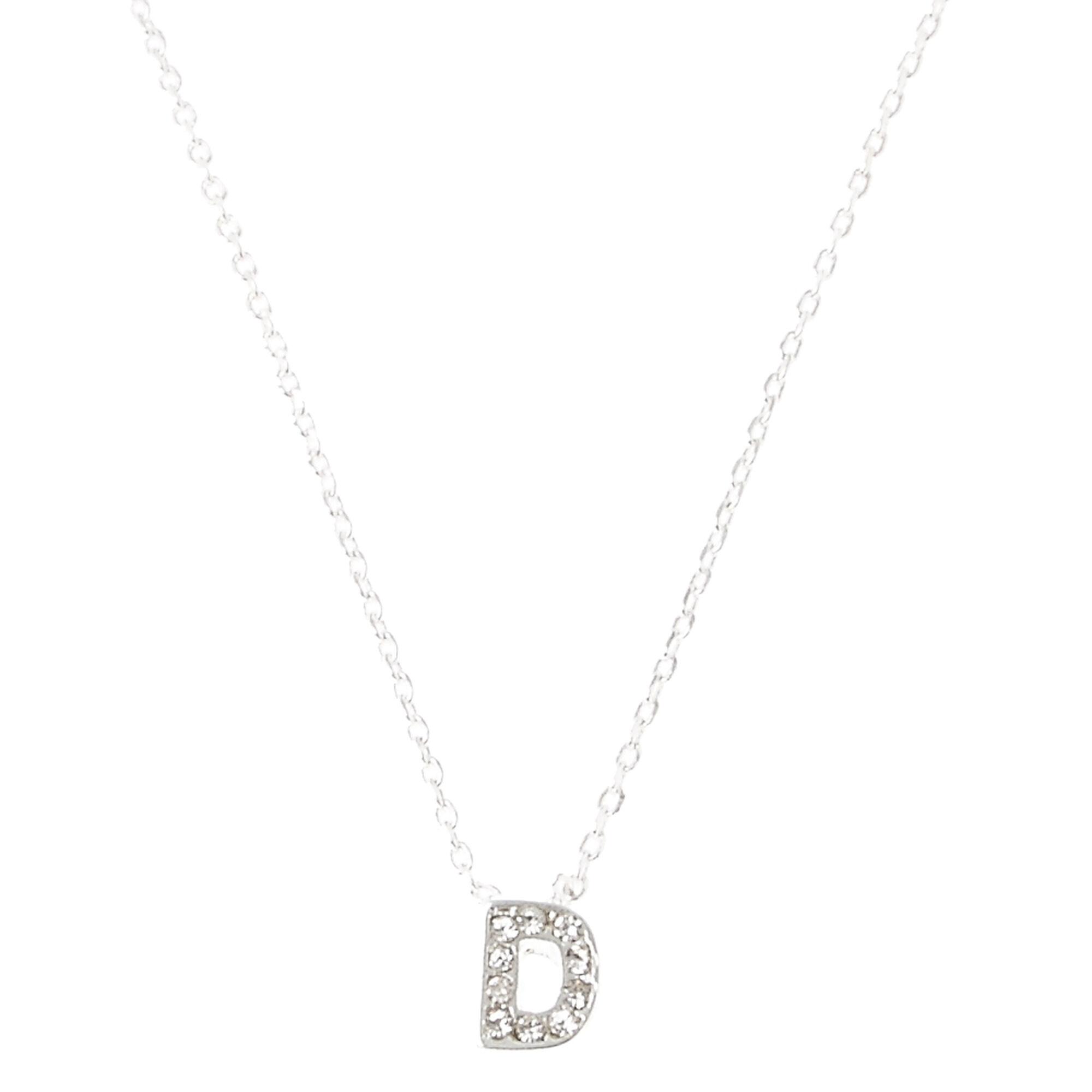 D pendant initial necklace icing us quotdquot pendant aloadofball Choice Image