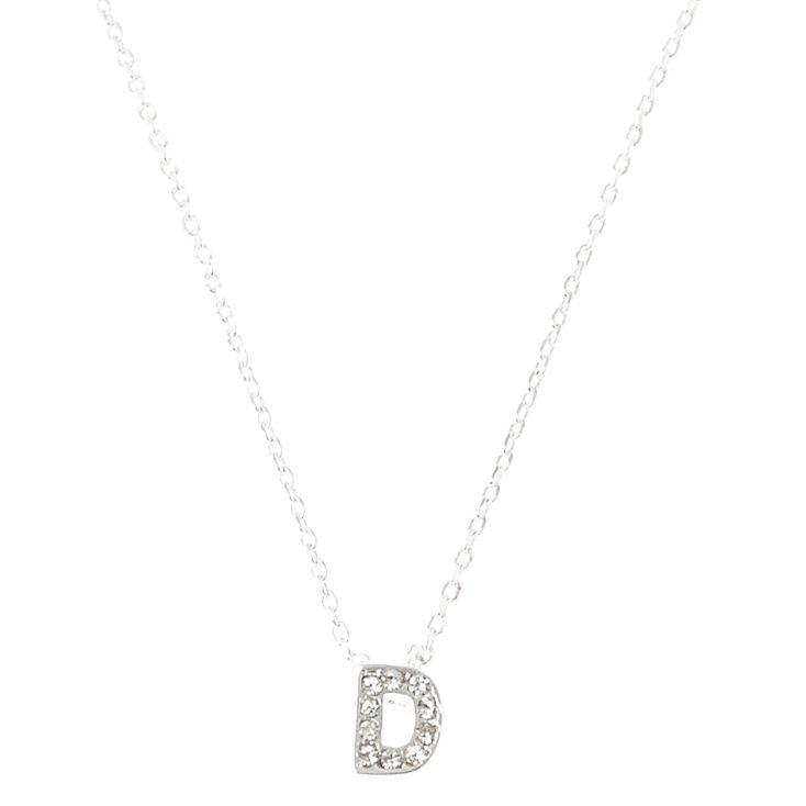"""""""D"""" Pendant Initial Necklace,"""