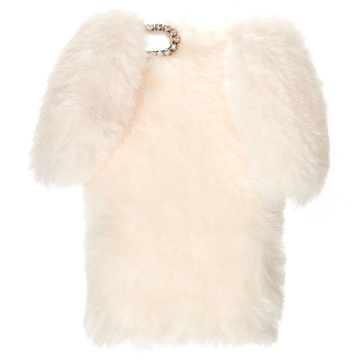 White Fur Bunny Phone Case - Fits iPhone 6/7/8 Plus,