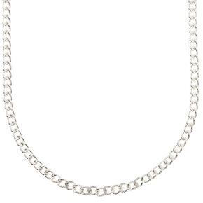Silver Embellished Mini Chain Link Necklace,