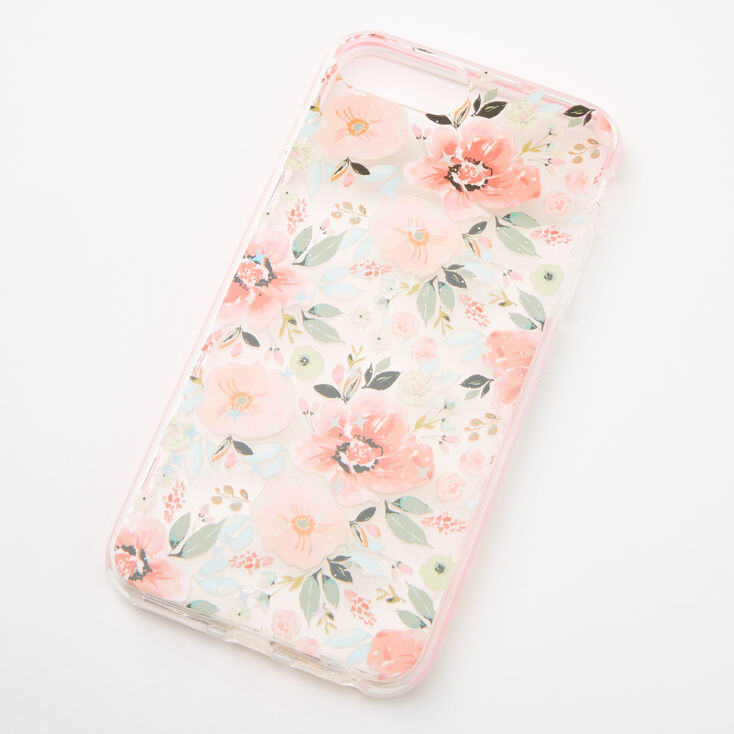 Coral Floral Protective Phone Case - Fits iPhone 6/7/8 Plus,