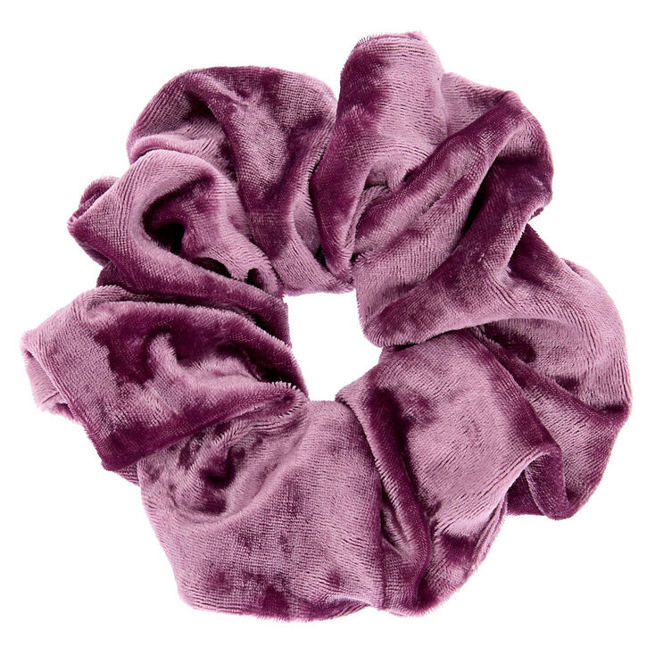 Large Velvet Hair Scrunchie - Lilac Purple,