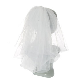 Shoulder Length Bridal Veil - White,