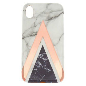 Geometric Marbled Phone Case - Fits iPhone XR,