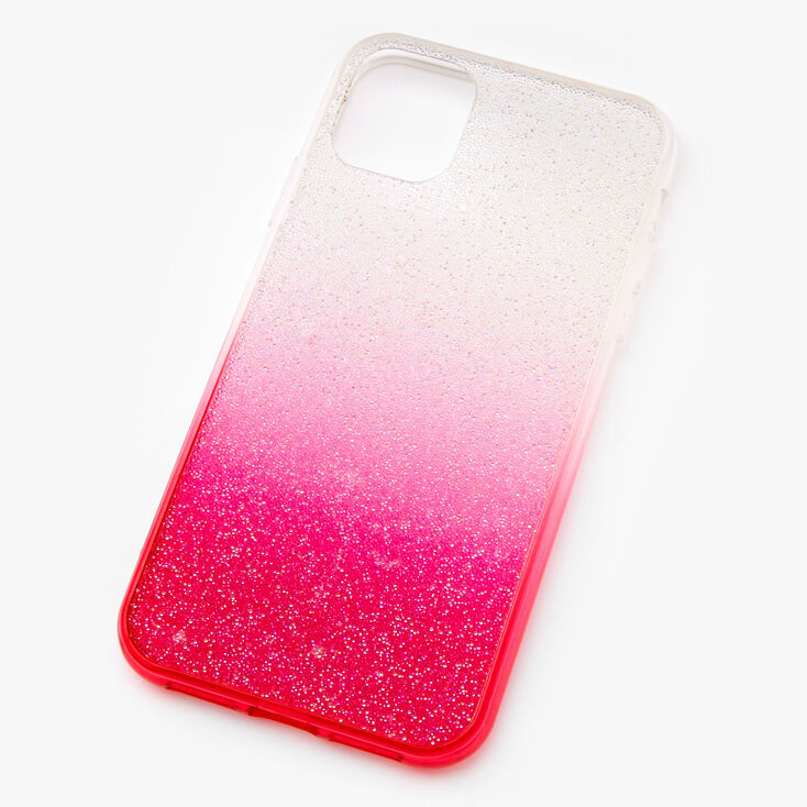 Bright Pink Ombre Caviar Glitter Phone Case - Fits iPhone 11,