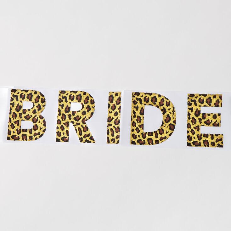 Leopard Bride  Sash - White,