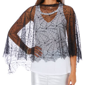 Spiderweb Poncho - Black,