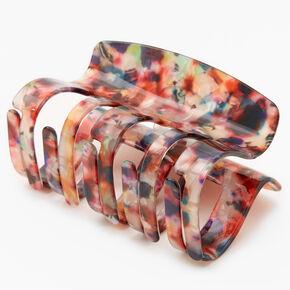 Medium Rainbow Marble Hair Claw,