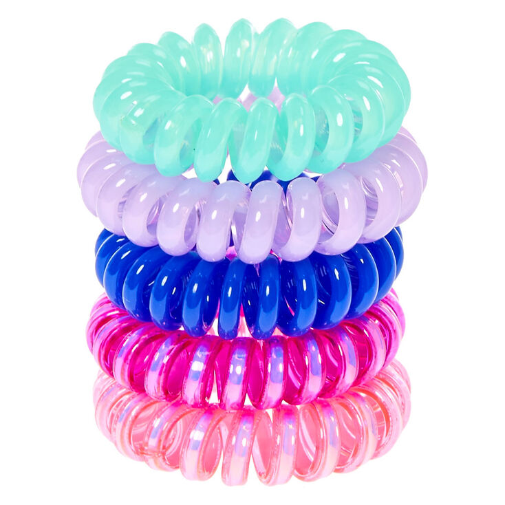 Pink  amp  Blue Mini Coiled Hair Ties dfe6391a299