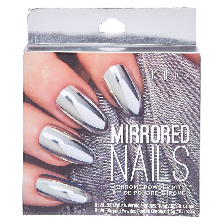 Silver Chrome Powder Nails Kit,