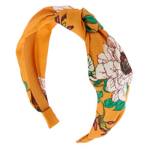 Golden Girl Floral Knotted Headband,