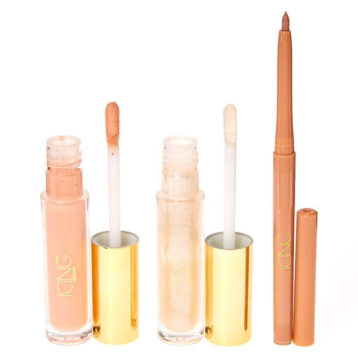 Matte & Shine 3 Piece Nude Lip Kit,