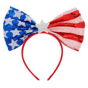 Oversized USA Bow Headband,