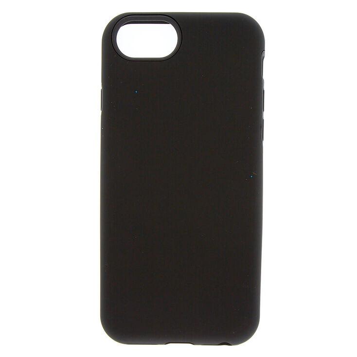 Matte Black Protective Phone Case - Fits iPhone 6/7/8 Plus,