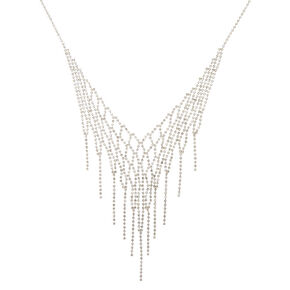 Crystal Fringe Statement Necklace,