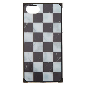 Checkered Marble Square Phone Case - Fits iPhone 6/7/8,