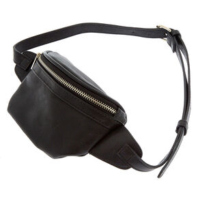 Leather Fanny Pack - Black,