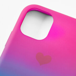 Ombre Heart Phone Case - Fits iPhone 11,