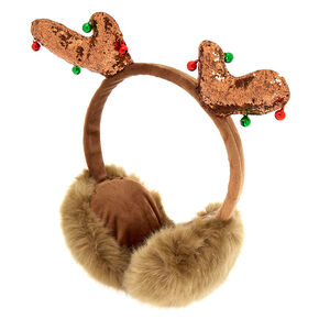 Reindeer Ear Muffs - Brown,