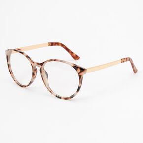 Tortoiseshell Cat Eye Clear Lens Frames,