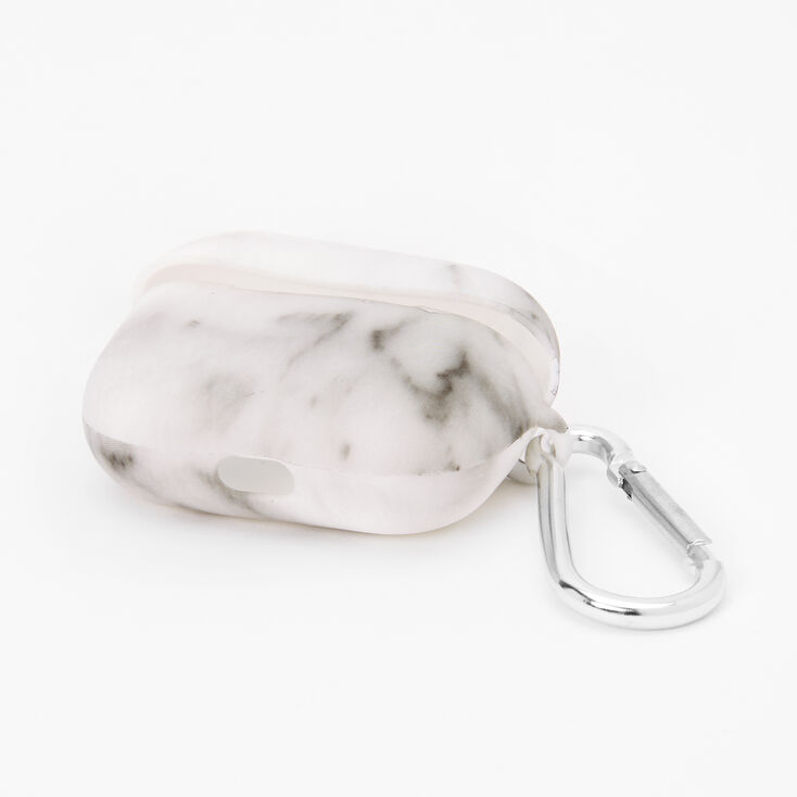 White Marble Silicone Earbud Case Cover - Compatible with Apple AirPods pro®,