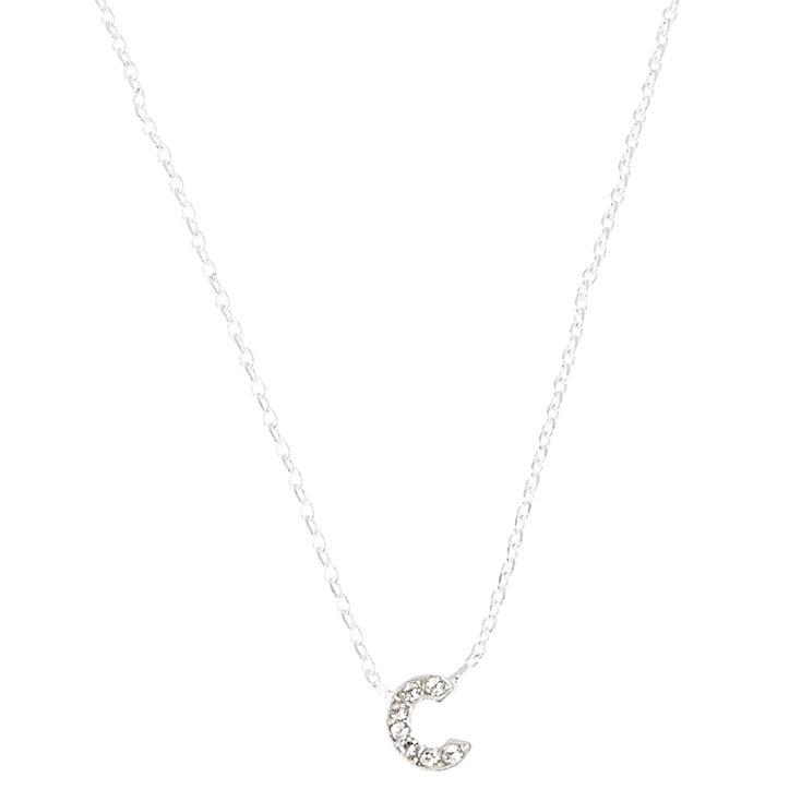 C Pendant Necklace,