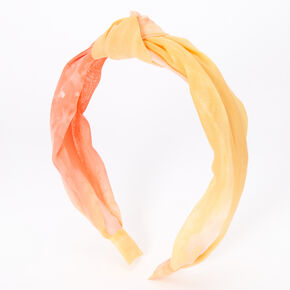 Sunrise Tie Dye Knotted Headband,