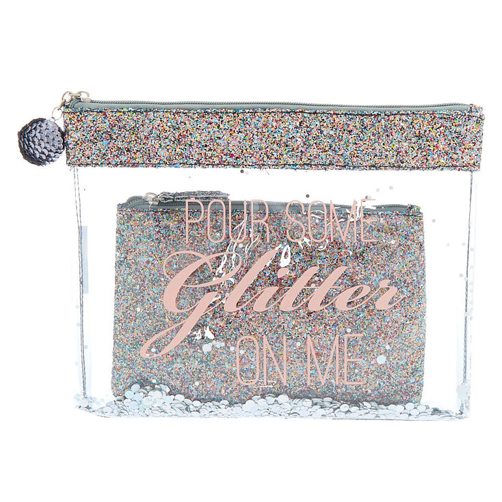 Pour Some Glitter On Me Pouch Set - 2 Pack,