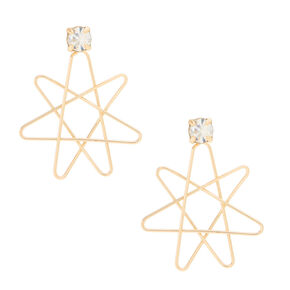 Rose Gold-Tone Geometric Front and Back Earrings,