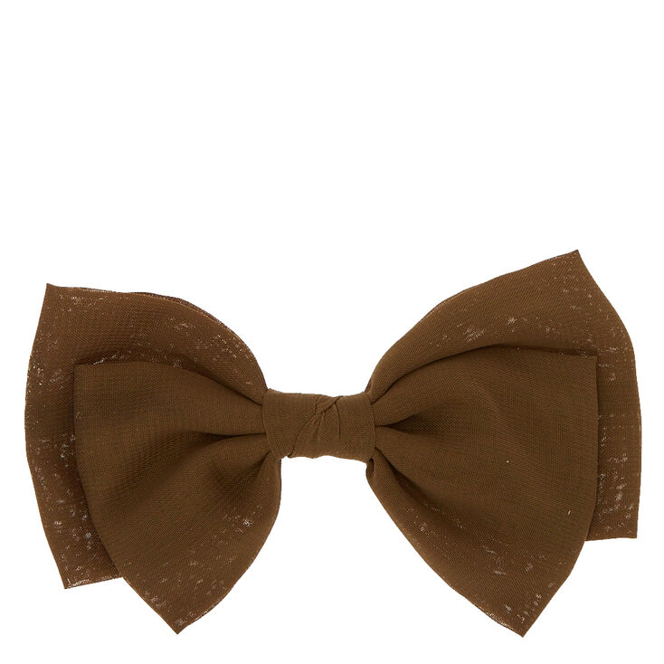Olive Double Flop Bow Hair Clip,