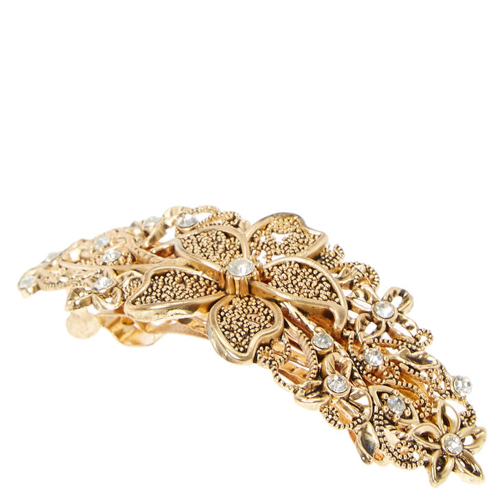 Filigree Gold Flower Hair Clip,