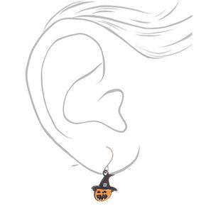 "Silver .5"" Halloween Drop Earrings - 6 Pack,"