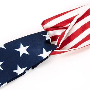 Basic American Flag Twisted Headwrap,