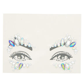 Iridescent Eye Gems - Clear,