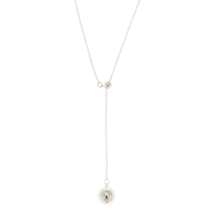 Silver Ball Y Neck Necklace,