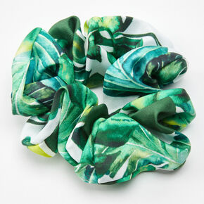 Palm Leaf Print Hair Scrunchie,