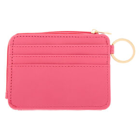 Gold Accent Cutout Coin Purse - Pink,