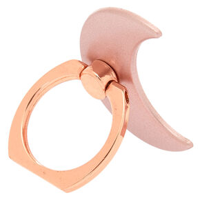 Rose Gold Moon Ring Stand,