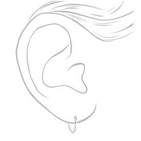 Sterling Silver Mixed Heart Hoops & Stud Earrings - 3 Pack,