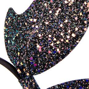 Glitter Bat Wings Headband - Black,