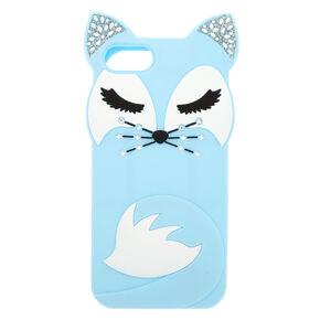 Blue Pretty Fox Silicone Phone Case - Fits iPhone 6/7/8/SE,