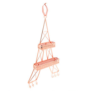 Eiffel Tower Wall Hanging Jewelry Holder - Rose Gold,