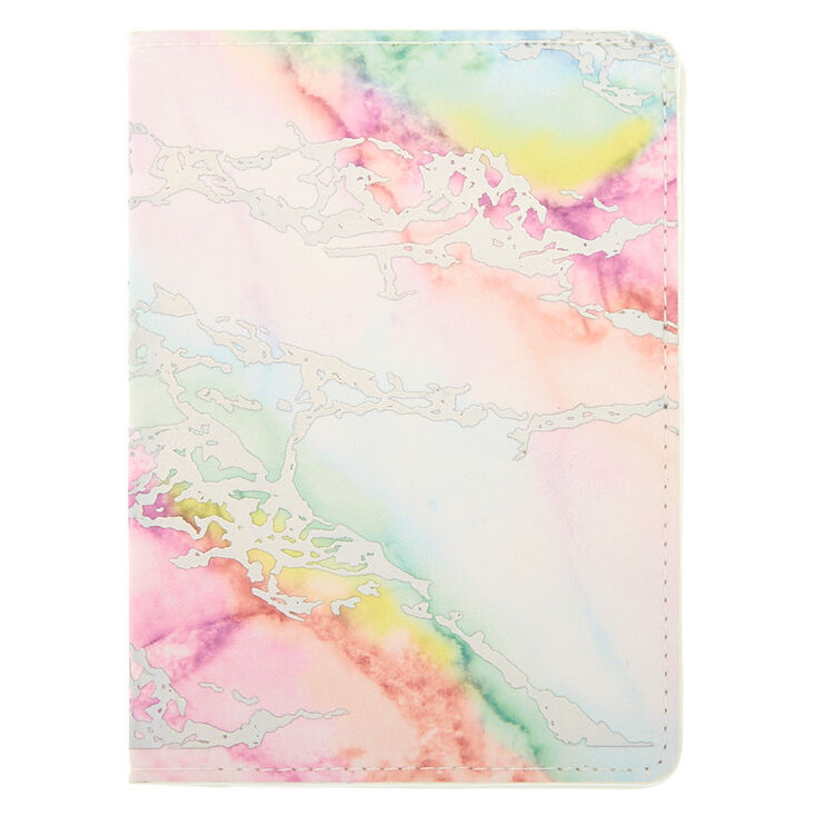 Rainbow Marble Passport Cover,