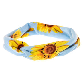 Wide Jersey Sunflower Headwrap,