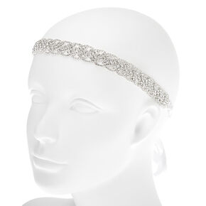 Silver 2-in-1 Braided Bling Belt & Headwrap,