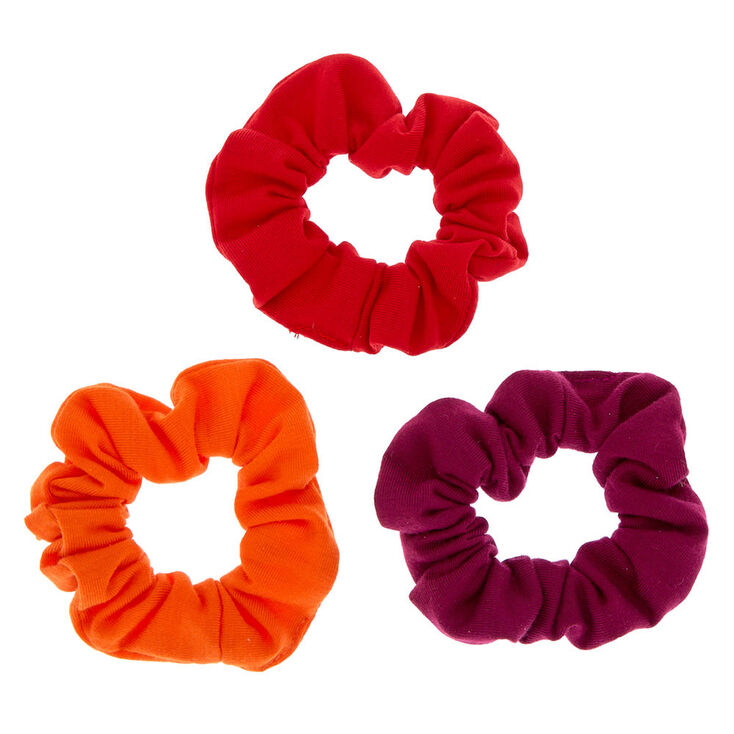 Sunset Hair Scrunchies - Red, 3 Pack,
